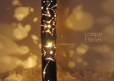Lampe Bambou Etoiles