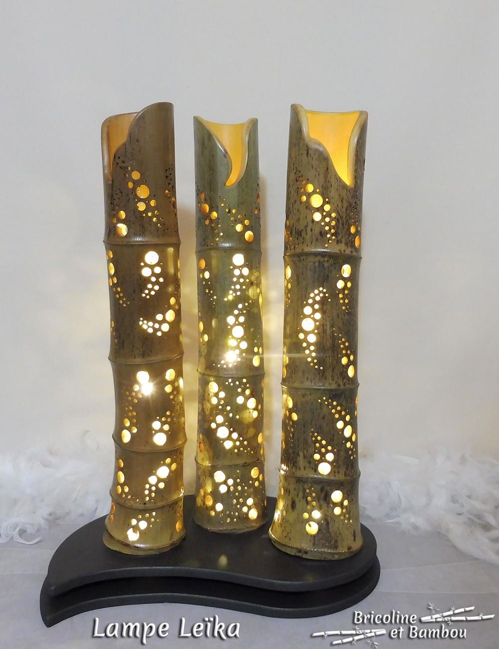 Lampe Bambou Leïka