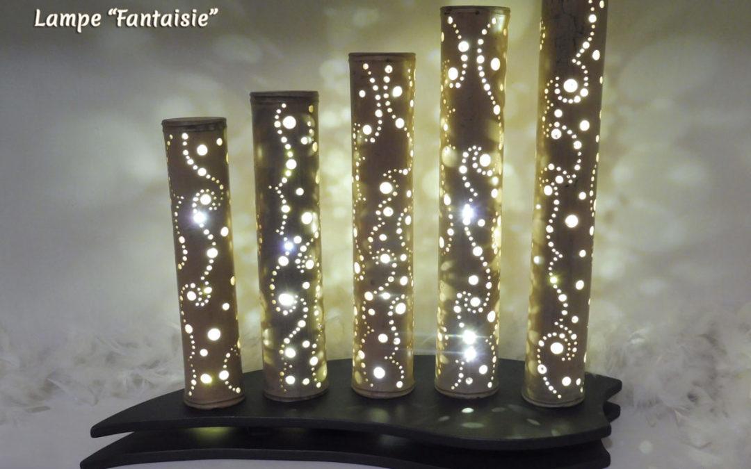 Lampe Bambou Fantaisie