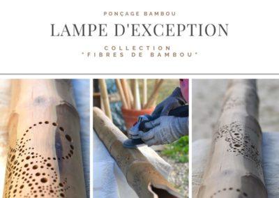Lampe d'exception de la Collection «Fibres de Bambou»