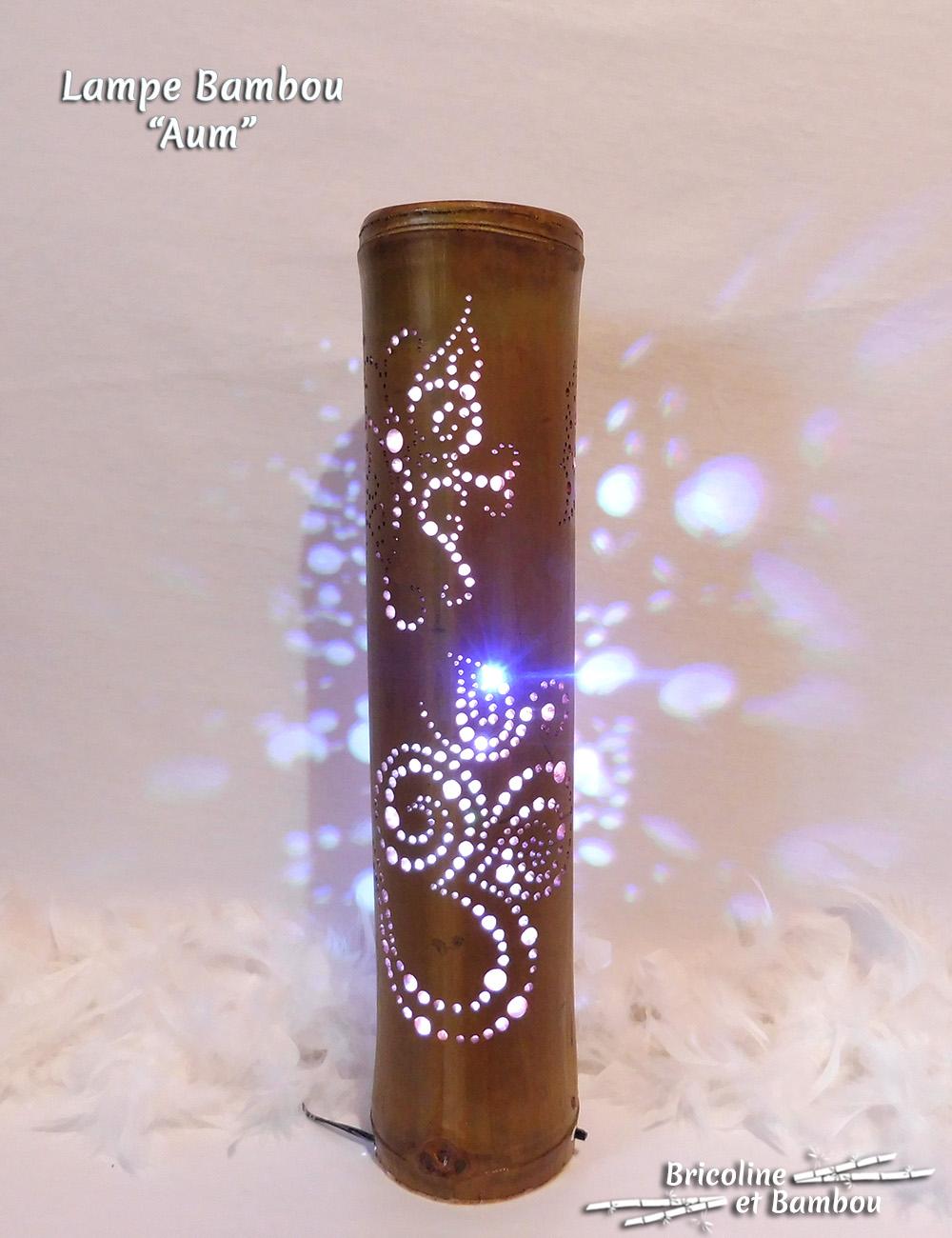Lampe Bambou Aum