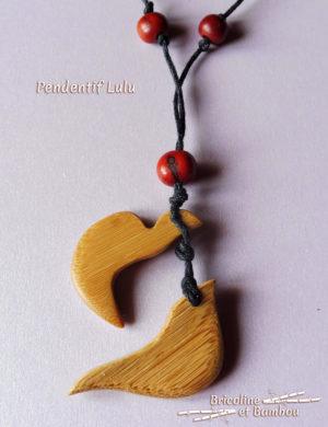 Bijoux en bambou : Pendentif Lulu 3