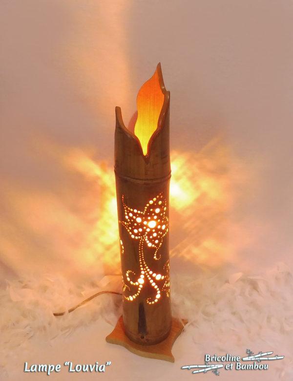 Lampe Bambou Louvia