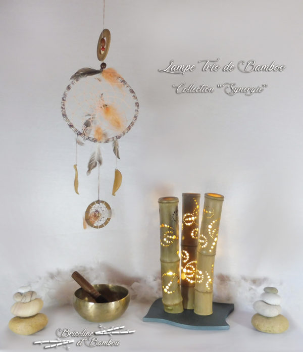 Lampe Trio de Bamboo