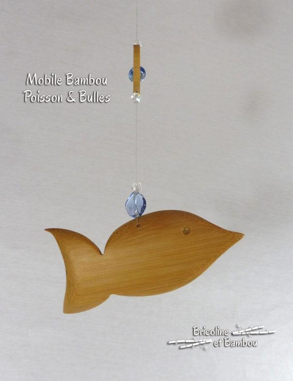 "Mobile Bambou ""Poisson & Bulles"""